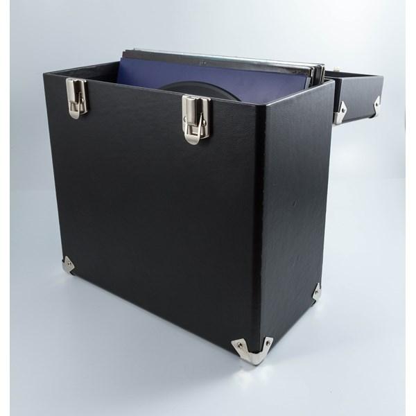 GPO Vinyl Record Storage Case in Black