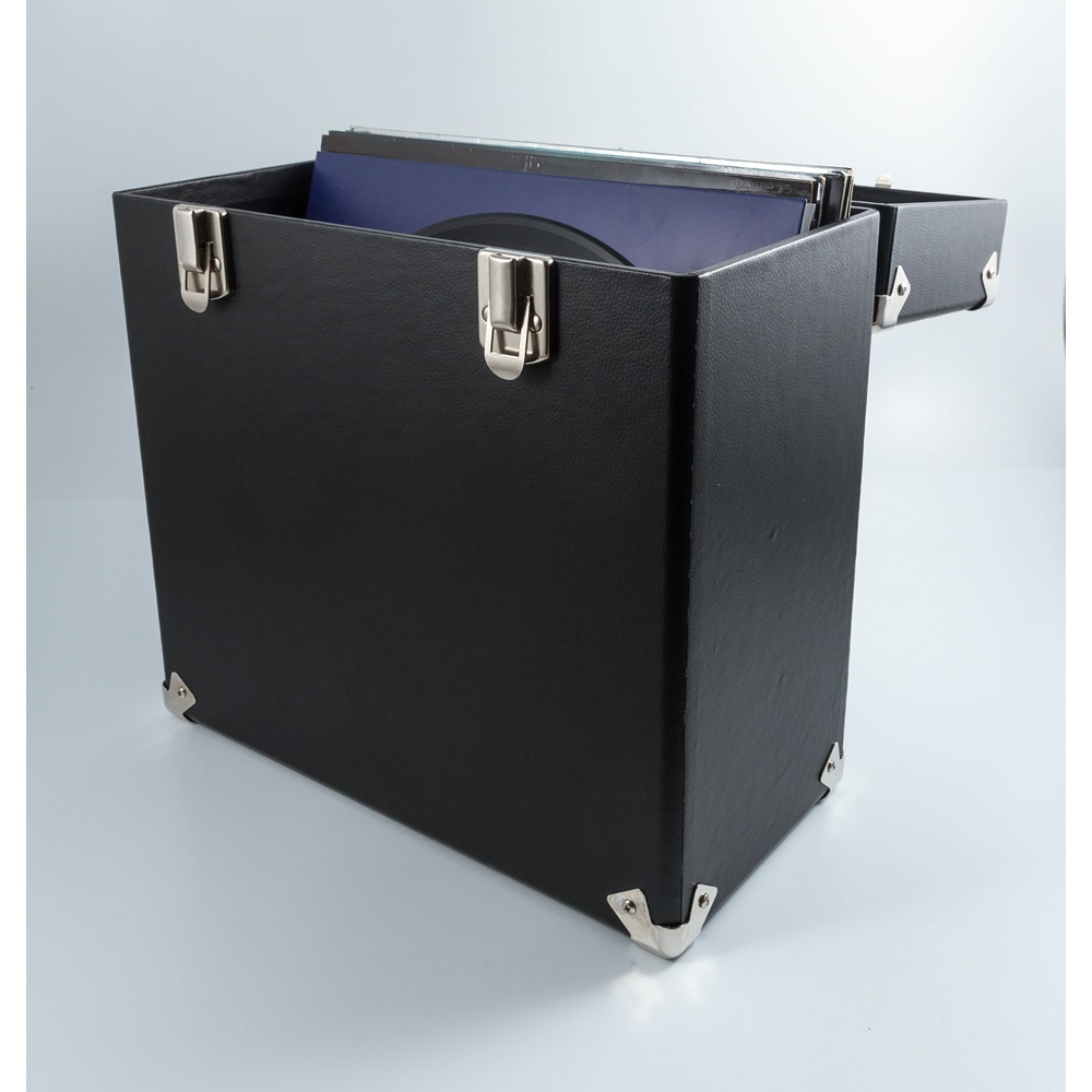 Gpo Vinyl Record Storage Case In Black Jpg