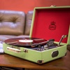 Vintage Record Player in Lime Green