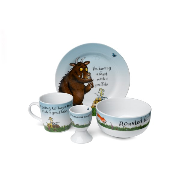 GRUFFALO Ceramic 4 Piece Breakfast Set
