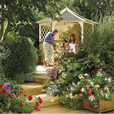 ROWLINSON GAINSBOROUGH WOODEN GAZEBO in Natural Timber