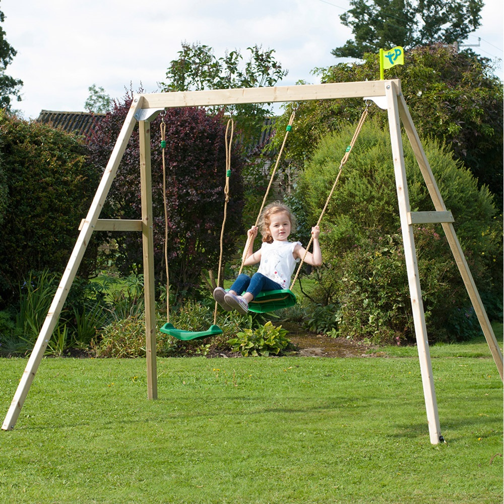 Tp Toys Forest Wooden Double Swing Set - Tp Toys | Cuckooland