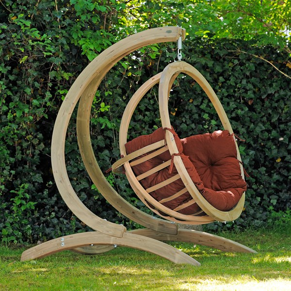 Globo Hanging Chair and Stand in Terracotta