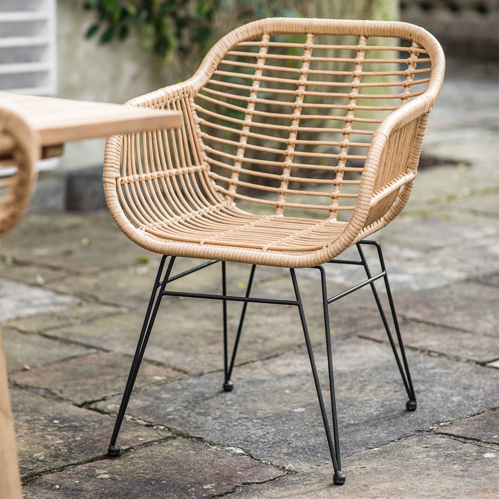 Garden Trading Set of 2 Hampstead Chairs in Bamboo