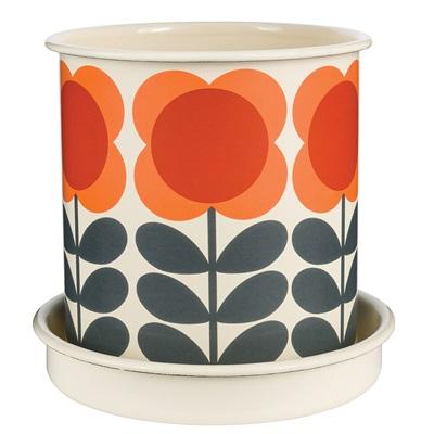 ORLA KIELY Large Plant Pot in Orange