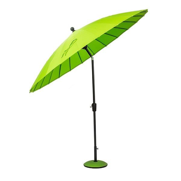 Geisha Outdoor Tilted Parasol in Lime Green