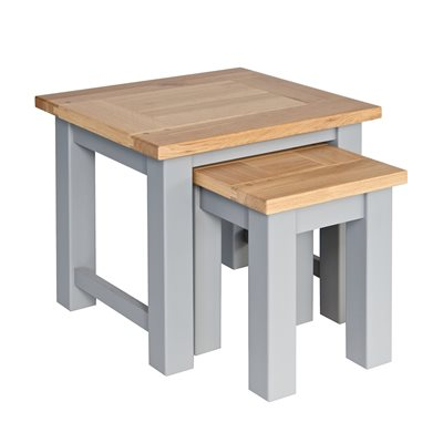 WILLIS & GAMBIER GENOA NEST OF TABLES in Oyster Grey