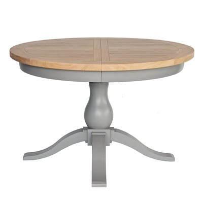 WILLIS & GAMBIER GENOA EXTENDING ROUND TABLE in Oyster Grey