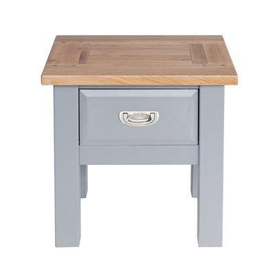WILLIS & GAMBIER GENOA LAMP TABLE in Oyster Grey