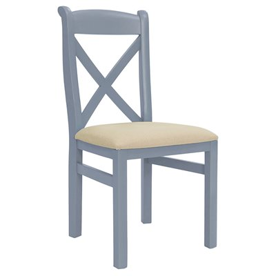 WILLIS & GAMBIER GENOA X-BACK DINING CHAIR in Oyster Grey