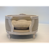 Luxury Designer Pet Bed by Lord Lou in Linen Ecru