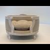 Luxury Designer Pet Bed by Lord Lou in Linen Ecru