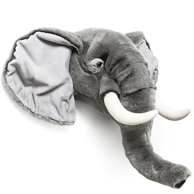 KIDS ELEPHANT PLUSH ANIMAL HEAD WALL DECOR