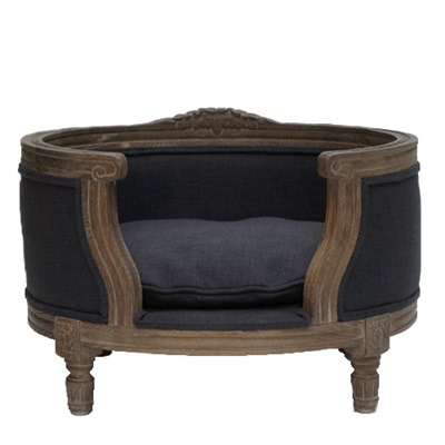 THE GEORGE LUXURY DESIGNER PET BED in Fusli Grey