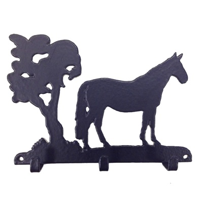 Key Rack with 3 Hooks in George Horse Design