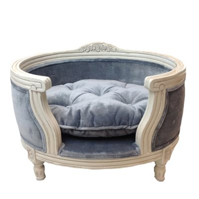 The George Luxury Designer Pet Bed in Pile Grey
