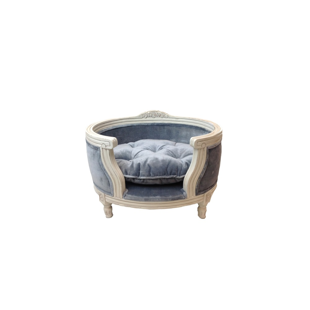 The george luxury designer pet bed in pile grey lord lou for Dog beds designer luxury