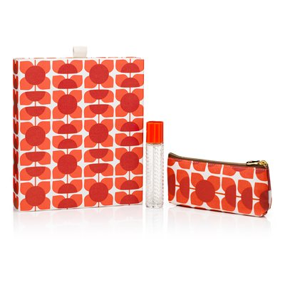 ORLA KIELY Square Flower Geranium Purse Spray Gift Set