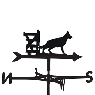 Weathervane in German Shepherd Design