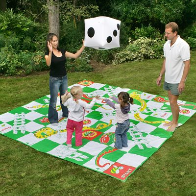 GIANT SNAKES & LADDERS OUTDOOR SET by Garden Games