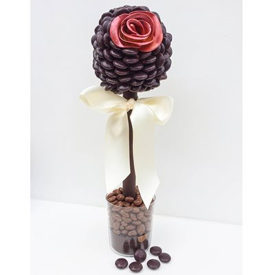 VALENTINE PERSONALISED MINSTREL ROSE SWEET TREE
