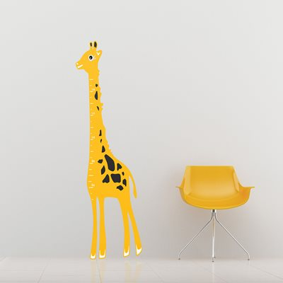 KIDS WALL STICKER in 'Giraffe Height Chart' design.