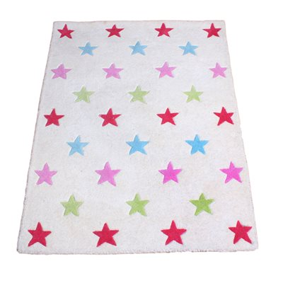 RUG in Girls Star Design
