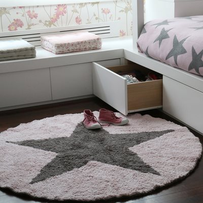 LORENA CANALS REVERSIBLE STAR KIDS WASHABLE RUG