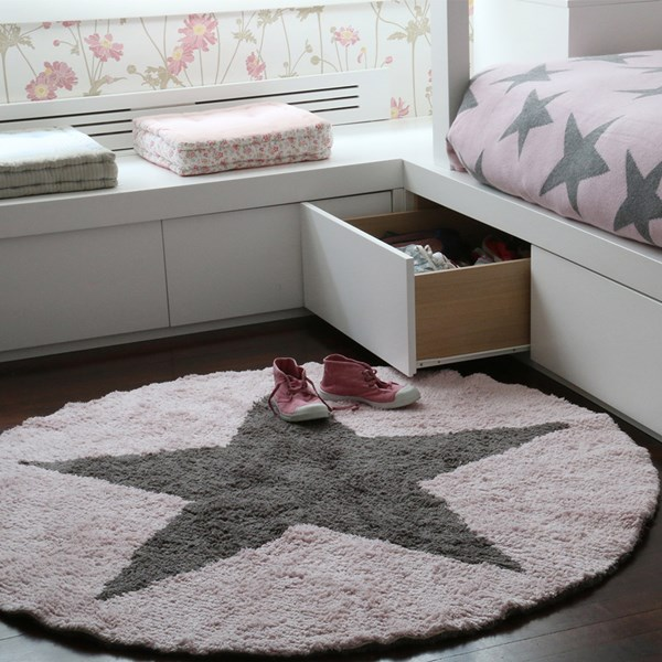 Reversible Star Kids Washable Rug by Lorena Canals