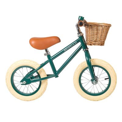 Banwood First Go! Balance Bike in Dark Green