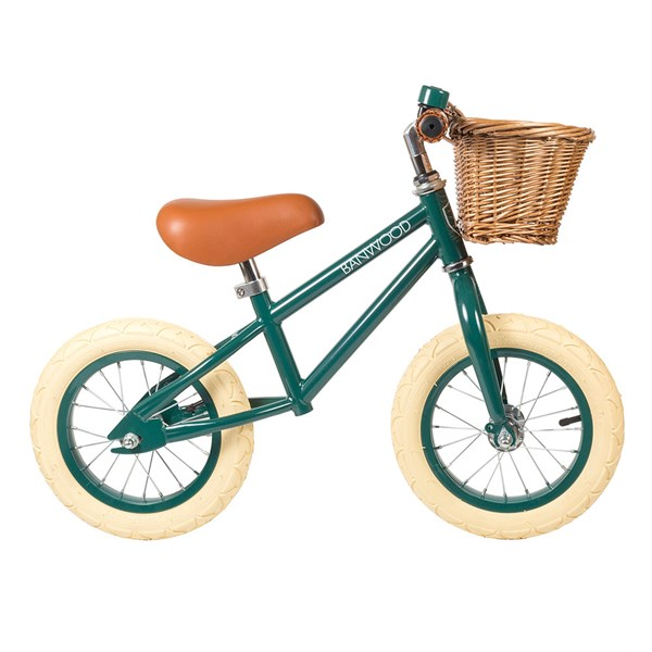 Traditional Kids Balance Bike in Green
