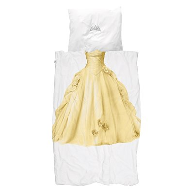 SNURK Childrens Princess Duvet Bedding Set in Yellow