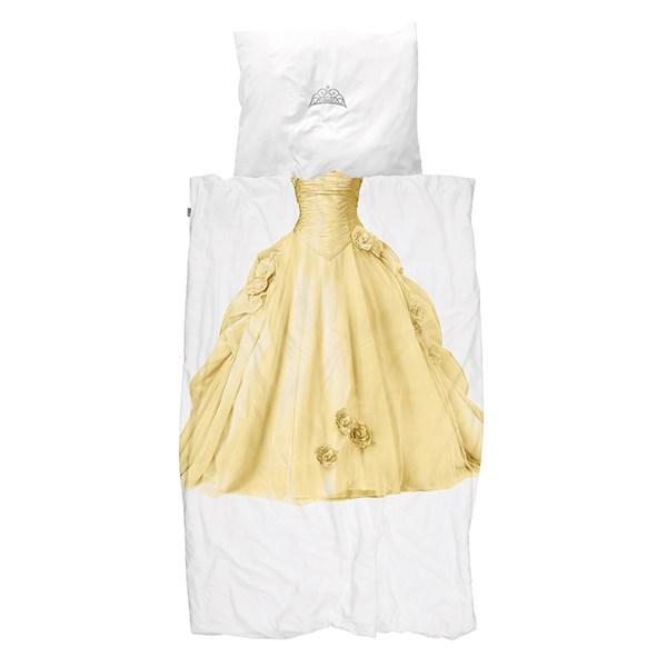 Snurk Childrens Princess Duvet Bedding Set in Yellow