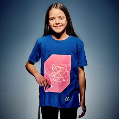 ILLUMINATED APPAREL KIDS SUPER PEACH GLOW T-SHIRT in Royal Blue