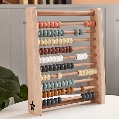 CHILDREN'S COLOURFUL WOODEN ABACUS