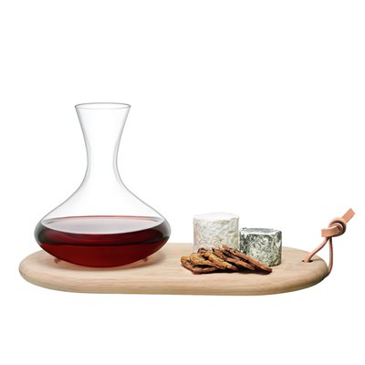 LSA Wine Carafe & Oak Cheese Board Set