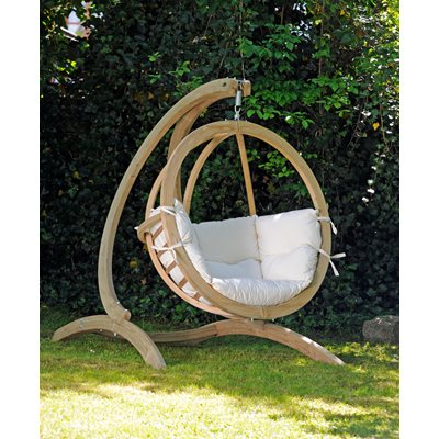 GLOBO HANGING CHAIR & STAND in Natural