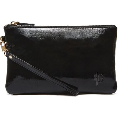 MIGHTY PURSE in Glossy Black Cow Leather