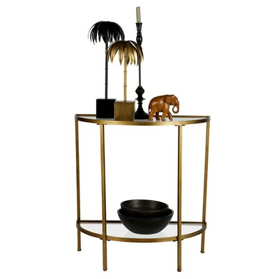 Goddess Side Table in Antique Brass by Be Pure Home