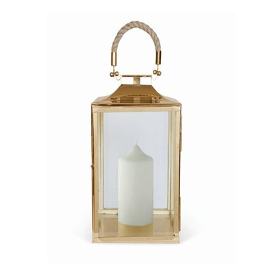 EXTRA SMALL LA ROCHELLE Lantern In Antique Brass Finish