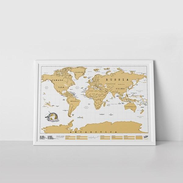 Gold Foil Scratch Map