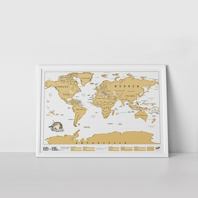 GOLD FOIL SCRATCH MAP