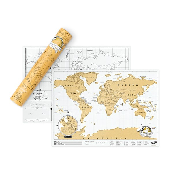 Gold Foil Travel Scratch Map