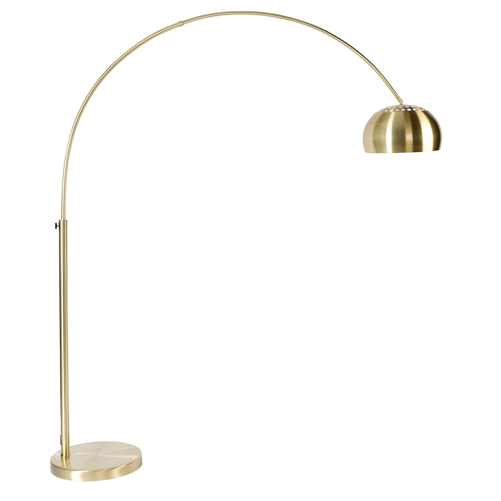 Zuiver metal bow floor lamp in brass zuiver cuckooland gold metal bow lampg aloadofball Images