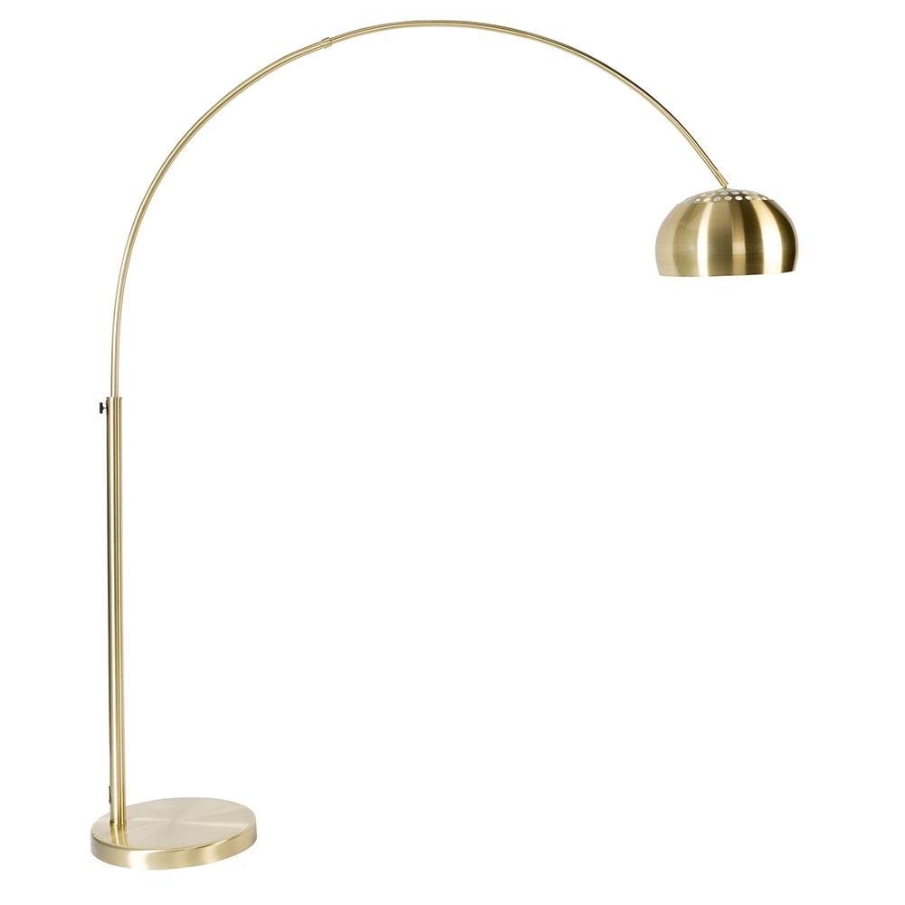 Metal Bow Floor Lamp In Brass
