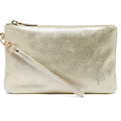 MIGHTY PURSE in Gold Shimmer Goat Leather