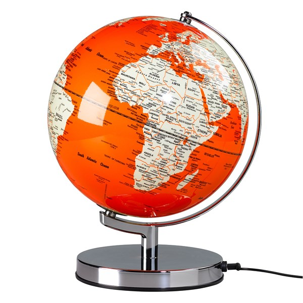 Globe Light in Goldfish Orange by Wild and Wolf