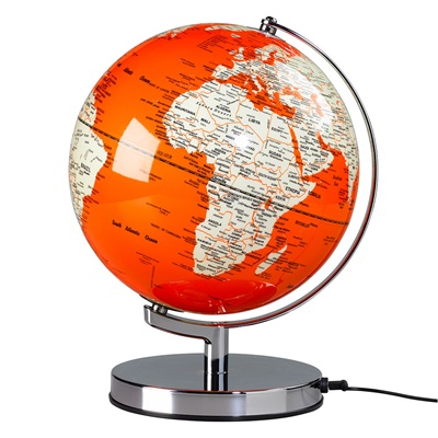 "Wild & Wolf Light Up 10"" Globe in Goldfish Orange"
