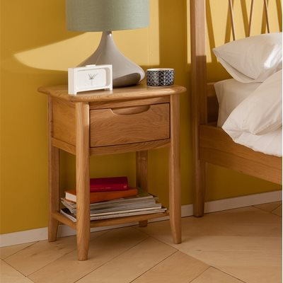 WILLIS & GAMBIER GRACE BEDSIDE TABLE with Drawer