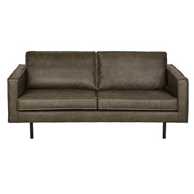 RODEO 2 SEATER LEATHER SOFA in Army Green